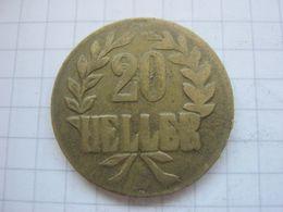 German East Africa , 20 Heller 1916 (brass , Type B B) - Afrique Orientale Allemande