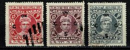 India - Cochin Anchal 1913-22 Yv. S 2, 3, 4 (2 Scans) - Cochin
