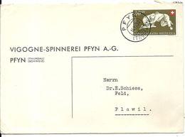 LETTRE DE PFYN . 1950 - Marcofilie