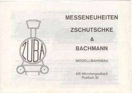Catalogue ZUBA 1973 ? Messeneuheiten Zschutschke & Bachmann Modellbahnbau - Libros Y Revistas