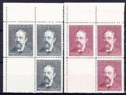 Boheme Et Moravie 1944 Mi 138-9 (Yv 117-8), (MNH)** Blocs De 4 Avec Vignettes - Coins De Feuille - Bohemia & Moravia