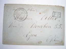 Guerre De 1870 - Enveloppe De L'armée Du Rhin Du 26/09/70 Avec Cachet De Neuf-Brisach Type 15 En PP Pour Lyon Le 28/09 - Postmark Collection (Covers)
