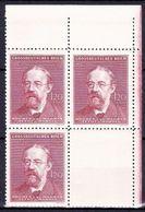Boheme Et Moravie 1944 Mi 139 (Yv 118), (MNH)** Bloc De 4 Avec Vignette - Coin De Feuille - Bohemia & Moravia
