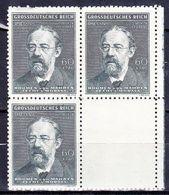Boheme Et Moravie 1944 Mi 138 (Yv 117), (MNH)** Bloc De 4 Avec Vignette - Bohemia & Moravia
