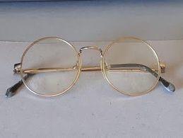Vintage Montatura Occhiali Tondi - Le Lenti Presenti Sono Graduate - Occhiali