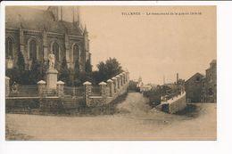 Carte De VILLANCE Le Monument De La Guerre ( Recto Verso ) - Libin