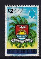 Tuvalu 1976, $2 Overprint Used. But Stamp Has A Fold - Tuvalu