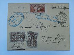 262 IIB Obl C.a.d Paris21/8/36- Griffe Linéaire Et Cachet Censure Pour Porto-Alègre Brésil - T.B Document - France
