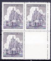 Boheme Et Moravie 1944 Mi 141 (Yv 120), (MNH)** Bloc De 4 Avec Vignette - Bohemia & Moravia