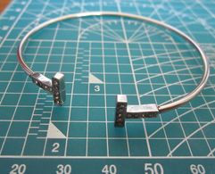 BRACCIALE STRASS METAL ACCIAIO  BIGIOTTERIA - Bracelets
