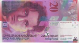 Suisse 20 Francs (P69h) 2014 (Pref: N) -UNC- - Suiza