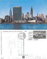 Mid-Manhattan Skylane Fromm Across The East River. Viaggiata 1958 - Manhattan
