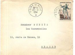 NICE . CACHET FOIRE DE NICE 1954 - Marcofilie (Brieven)