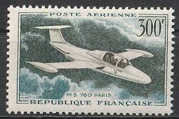 Timbre France Poste Aérienne Aviation Avion Plane MS 760 N° Yvert PA35 De 1957 Neuf ** - 1927-1959 Mint/hinged
