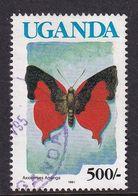 Uganda 1991, Butterfly Minr 1020 Vfu - Ouganda (1962-...)