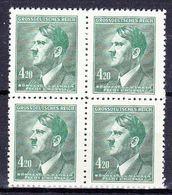 Boheme Et Moravie 1945 Mi 142 (Yv 98A), (MNH)** Bloc De 4 - Bohemia & Moravia