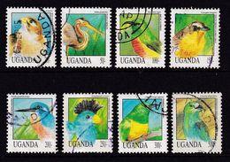Uganda 1992, Birds 8 Different, Vfu - Ouganda (1962-...)