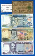 Philippines  4  Billets - Filipinas
