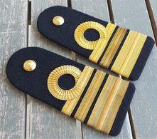 Coppia Di Spalline Vintage Capitano Di Fregata Marina Militare Ottime - Marine