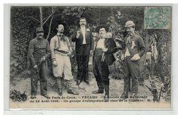 76 FECAMP #13906 SOUVENIR DE LA CALVACADE AOUT 1906 GROUPE D INTERPRETES DU CHAR N° 399 - Fécamp