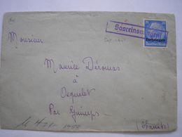 Enveloppe Affranchie Avec TP Lorraine De La Guerre 39/45 En Aout 1941 Pour Guimps Charente Censure Allemande - Marcofilia (sobres)