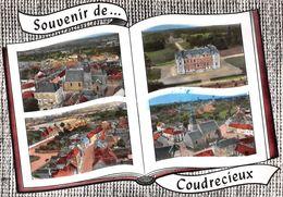 Souvenir De ... COUDRECIEUX - Vue D'ensemble - Le Château De La Pierre - Le Centre - L'Eglise - Livre Ouvert - Otros Municipios