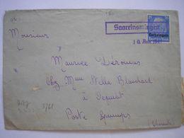 Enveloppe Affranchie Avec TP Lorraine De La Guerre 39/45 En Aout 1941 Pour Guimps Charente Censure Allemande - 2 Photos - Marcofilia (sobres)