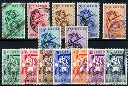 Venezuela Nº 361/5, 378/84. Año 1951/52 - Venezuela