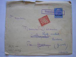 Enveloppe Affranchie Avec TP Lorraine De La Guerre 39/45 En Oct. 41 Pour Guimps/Bordeaux Censure Allemande TP Taxe 30c - Marcofilia (sobres)