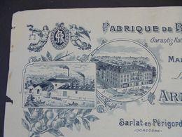 FACTURE  - 24 - DEPARTEMENT De La  DORDOGNE - SARLAT 1915 - FABRIQUE DE BROUS DE NOIX : ARMAND ROQUE - Zonder Classificatie