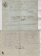VP17.197 - HEYRIEUX  X SAINT PIERRE DE CHANDIEU - 2 Documents Concernant Le Garde Particulier De Mr DEMARCIEUX - Manuscritos