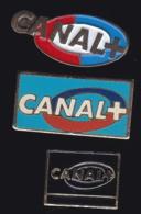 65739-Lot De 3 Pin's-Télévision.médias.Canal+ - Médias
