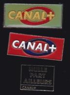 65741-Lot De 3 Pin's-Télévision.médias.Canal+ - Médias