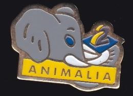 65746-Pin's-Télévision.médias.A2.antenne 2.Elephant..Animalia. - Médias