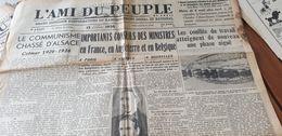 L AMI DU PEUPLE 36 /COMMUNISME CHASSE D ALSACE /DELBOS  /GREVE BATELLERIE CONFLITS TRAVAIL - Newspapers