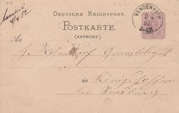 France Alsace Entier Postal Vendenheim 1882 - Marcofilia (sobres)