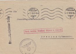 Bohême Et Moravie Lettre De Service Franchise Militaire Brünn 1943 - Bohemia & Moravia