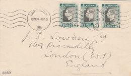 Afrique Du Sud Lettre Pour L'Angleterre 1937 - South Africa (...-1961)