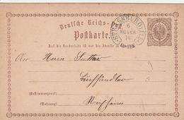 France Alsace Cachet Fer à Cheval Strassburg Sur Entier Postal 1874 - Marcophilie (Lettres)