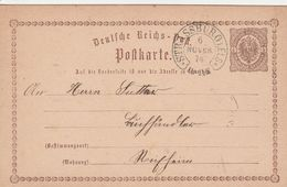 France Alsace Cachet Fer à Cheval Strassburg Sur Entier Postal 1874 - Elzas-Lotharingen