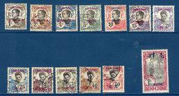"Yunnanfou YT 33...46 "" Indochine Surchargé "" 1908 Neuf/oblitéré - Unused Stamps"