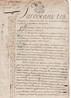 1786 PROVINS  Vente D'une Maison, Rue Du Four Des Reines, Réserve Du Chapitre Eglise St Quiriace De Provins - Documents Historiques