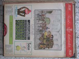De Post Belgische Posterijen Postkalender 1938 Calendrier Postal La Belgique 12 Prenten  Estampes O.a. De James Thiriar - Calendriers