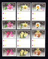 HONG  KONG    1985    Native  Flowers    Set  Of  6   Gutter Pairs    MNH - Hong Kong (...-1997)