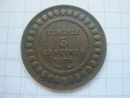 Tunisia , 5 Centimes 1891 - Tunisia