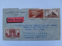 262 IIB Et Divers C.a.D Lyon 5/1/35 Sur Env. Pour Buenos-Aires (Argentine ) - France