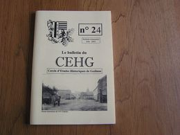 CEHG Revue N° 24 Gedinne Régionalisme Ardenne Wallon Semoy Semois Clocher Sart Custine Malvoisin Ardoise Willerzie Ecole - Belgium