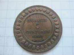 Tunisia , 5 Centimes 1907 - Tunisia