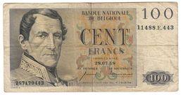 Belgium 100 Francs 28/07/1958 - [ 2] 1831-... : Reino De Bélgica
