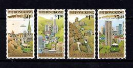 HONG  KONG    1988    Centenary  Of  The  Peak  Tramway    Set  Of  4    MNH - Hong Kong (...-1997)